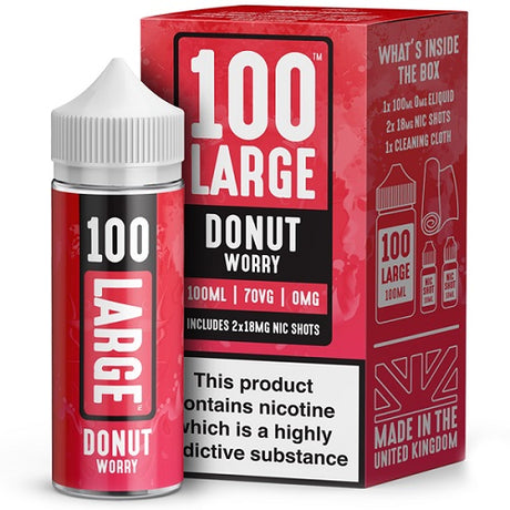 Donut Worry Short Fill by 100 Large (100ml) - Best4ecigs Vape