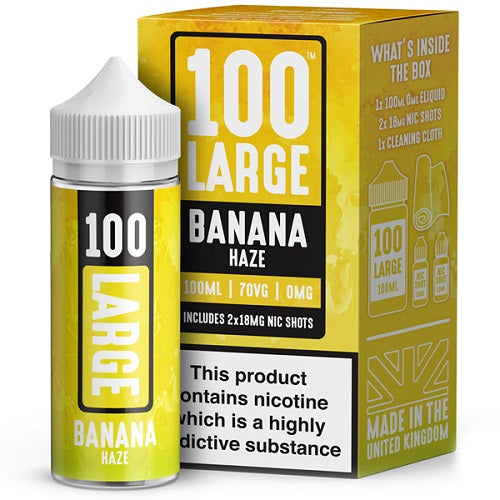 Banana Haze Short Fill by 100 Large (100ml) - Best4ecigs Vape