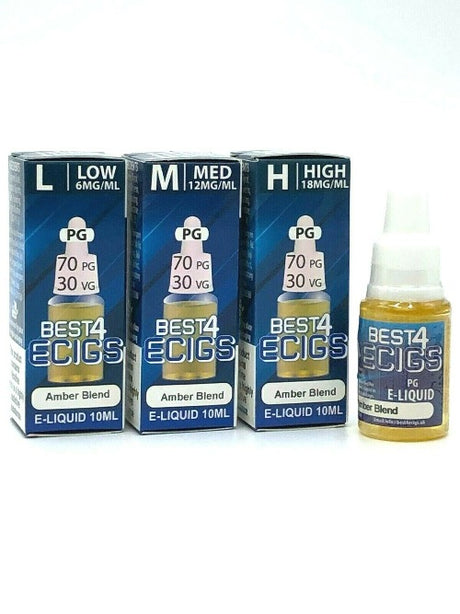 Amber Blend High PG E-liquid by Best4ecigs (10ml) - Best4ecigs