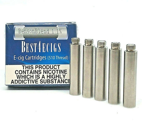 Best4ecigs Cartridges - BensonBlend Flavour (5 Pack) - Best4ecigs