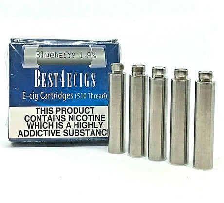 Best4ecigs Cartridges - Blueberry Flavour (5 Pack) - Best4ecigs