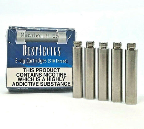 Best4ecigs Cartridges - Menthol Flavour (5 Pack) - Best4ecigs