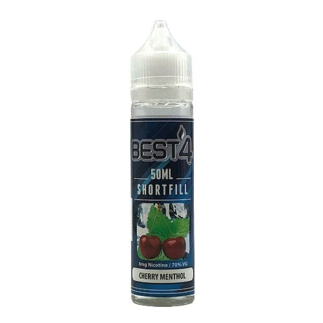 Cherry Menthol - Short Fill E-liquid by Best4ecigs (50ml) + FREE Nic Shot