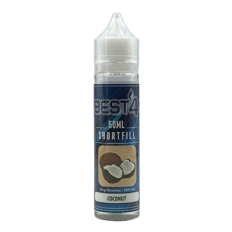 Coconut - Short Fill E-liquid by Best4ecigs (50ml) + FREE Nic Shot - Best4ecigs Vape