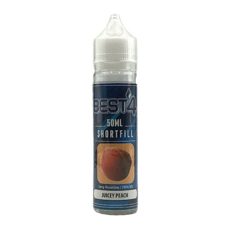 Juicy Peach - Short Fill E-liquid by Best4ecigs (50ml) + FREE Nic Shot - Best4ecigs Vape