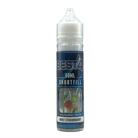 Mint Strawberry - Short Fill E-liquid by Best4ecigs (50ml) + FREE Nic Shot - Best4ecigs Vape