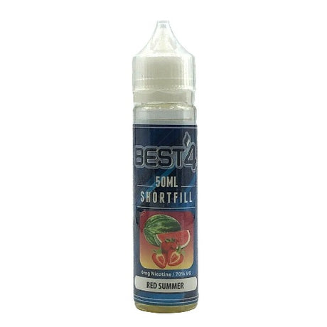Red Summer - Short Fill E-liquid by Best4ecigs (50ml) + FREE Nic Shot