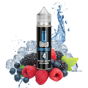 No4 Mixed Berries & Menthol Short Fill E-liquid by UBLO (50 & 100ml) + FREE Nic Shot(s)