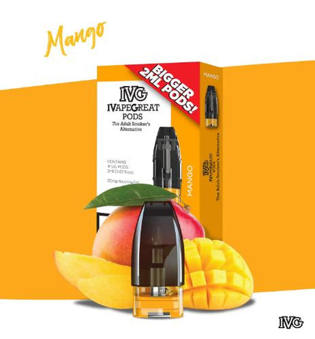 Mango Nic Salt E-liquid Pods by IVG (4 pack) - Best4ecigs Vape
