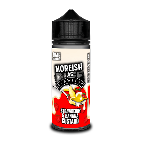 Strawberry Banana Custard Short Fill by Moreish Puff (100ml) - Best4ecigs Vape