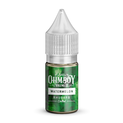 Watermelon & Rhubarb Nic Salt by Ohm Boy Volume III (10ml)