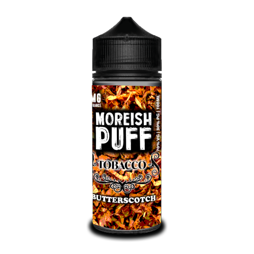Butterscotch Tobacco Short Fill by Moreish Puff (100ml) - Best4ecigs Vape