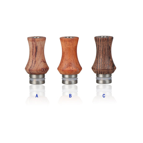 510 Wood & Stainless Steel Drip Tip - Best4ecigs Vape