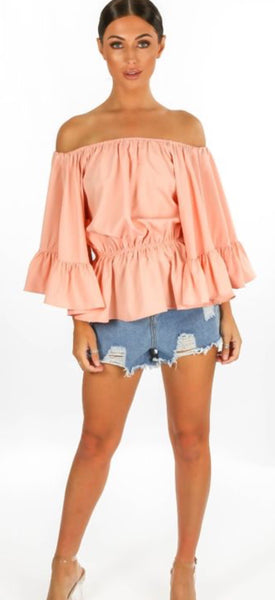 Floaty Sleeve Bardot Top