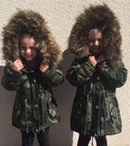 Faux Fur Military Coat