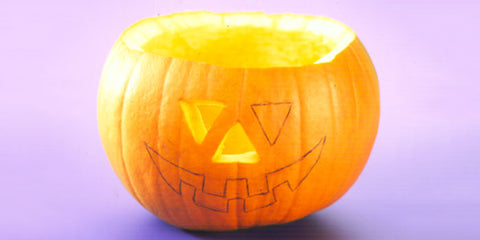 Pop A Tea Light Inside The Pumpkin, Light It And Replace The Crown. HAPPY  HALLOWEEN!
