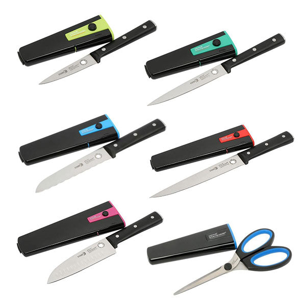 Staysharp Triple Rivet Kitchen Knives Complete Set with Scissors