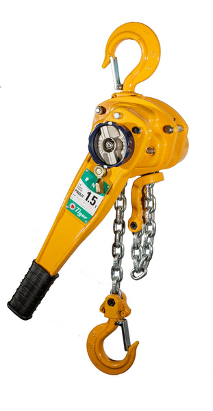 TIGER PROFESSIONAL LEVER HOIST TYPE PROLH, 1.5t CAPACITY with TRAVELLING END-STOP (210-20) - Hoistshop