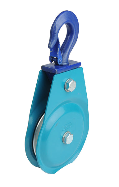 400kg WEBI Pulley Type ETT-205 - Return Pulley with Rotating Steel Hook  for Wire Cables (ETTER) - Hoistshop