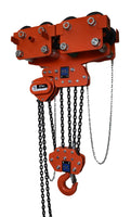 TIGER COMBINED CHAIN BLOCK & GEARED TRAVEL TROLLEY, 3.0t CAPACITY (TWIN FALL) MODEL CCBTGS (231-5) - 88-154mm - Hoistshop