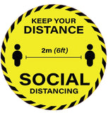 Keep your distance 2m 6ft - Hoistshop