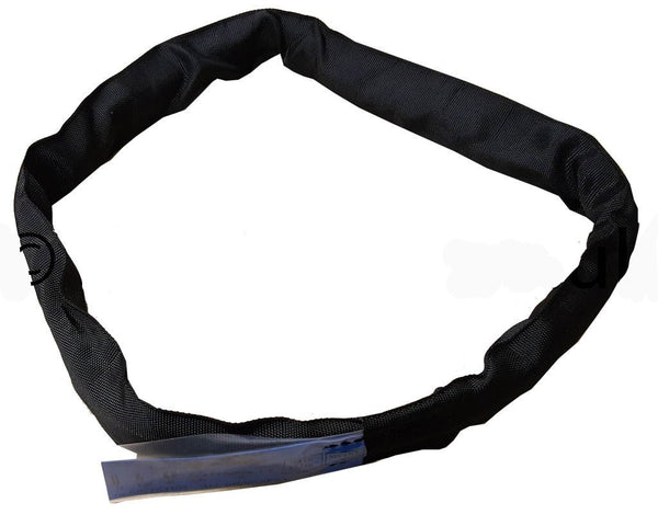 Black Roundsling - 1m to 12m Circ. 0.5m to 6m Effective Working Length. WWL=2T - Hoistshop