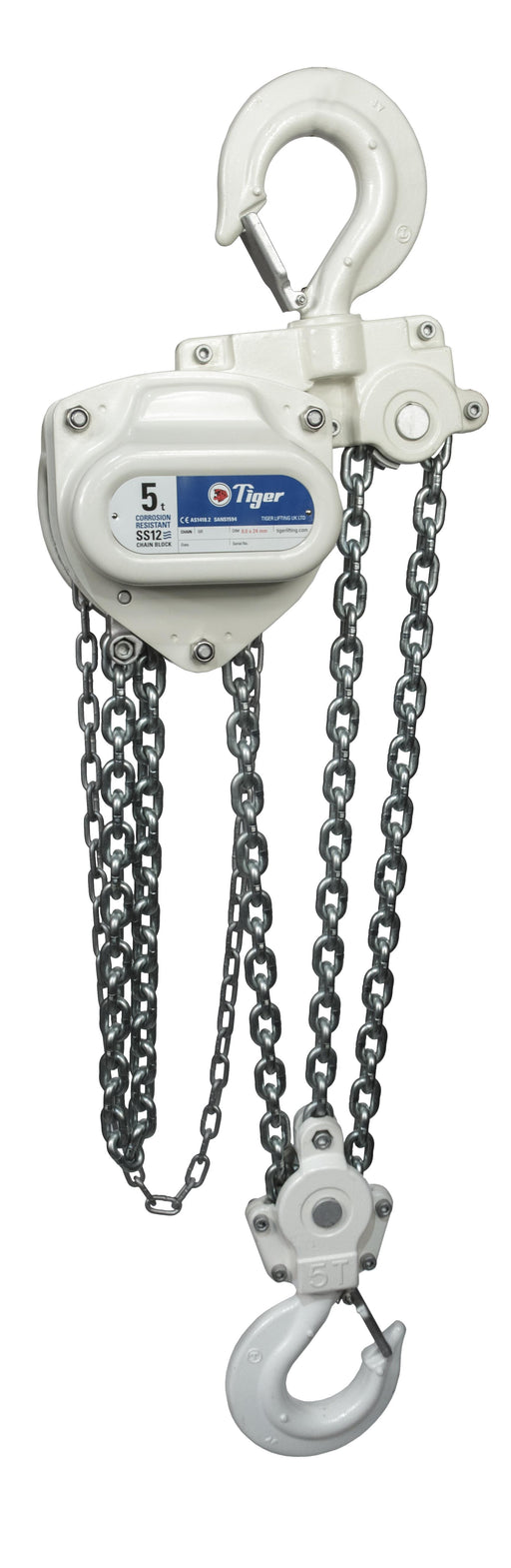 TIGER CORROSION RESISTANT CHAIN BLOCK SS12, 2.0t CAPACITY Ref: 211-54 - Hoistshop