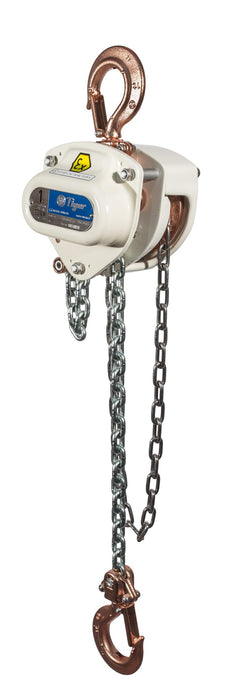 TIGER SPARK RESISTANT SS20 CHAIN BLOCK XCB, 5.0t CAPACITY WLL Ref: 219-18 - Hoistshop