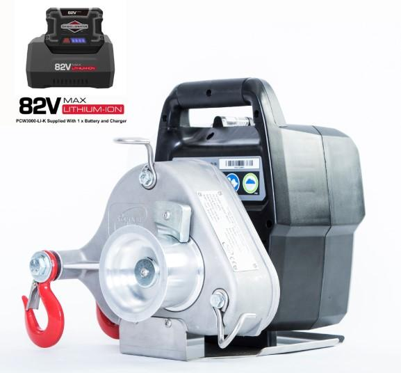 Battery | Pulling 1000kg  Capstan Winch Ref:167-1-1 - Hoistshop