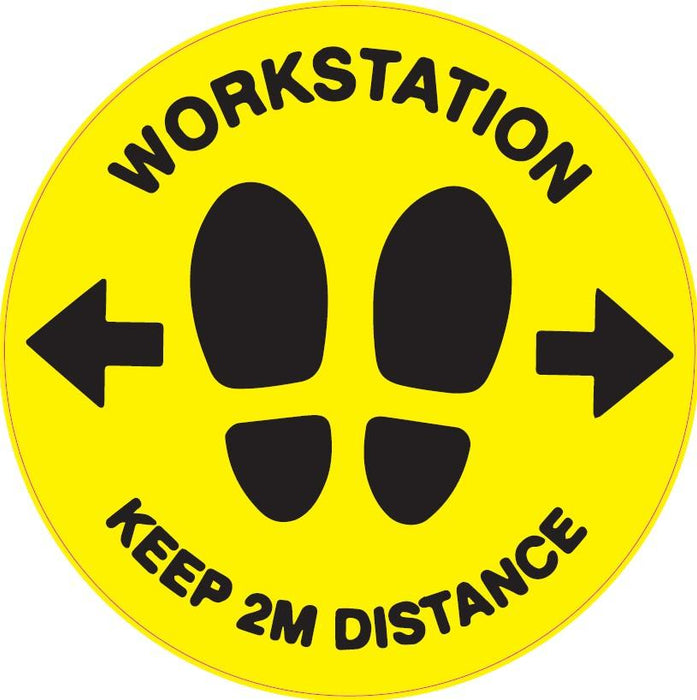 Workstation Keep 2m Distance - Hoistshop
