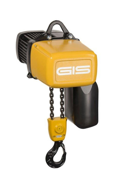 GIS GP500/2NF ELECTRIC CHAIN HOIST WITH HOOK SUSPENSION - MAX 1250kg SWL - Hoistshop