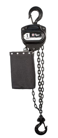 TIGER CHAIN BLOCK BCB14 IN BLACK FINISH, 1.0t CAPACITY (MODEL 220-) WITH CHAIN BAG - Hoistshop