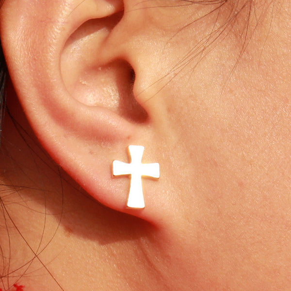 Little Cross Earrings