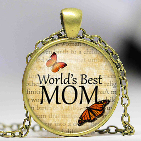 Worlds Beste Mom Necklace