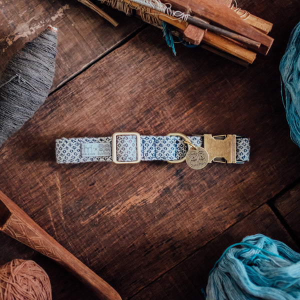 Dog Collars Natural X Indigo