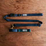 Martingale Collar - Dark Green x Navy