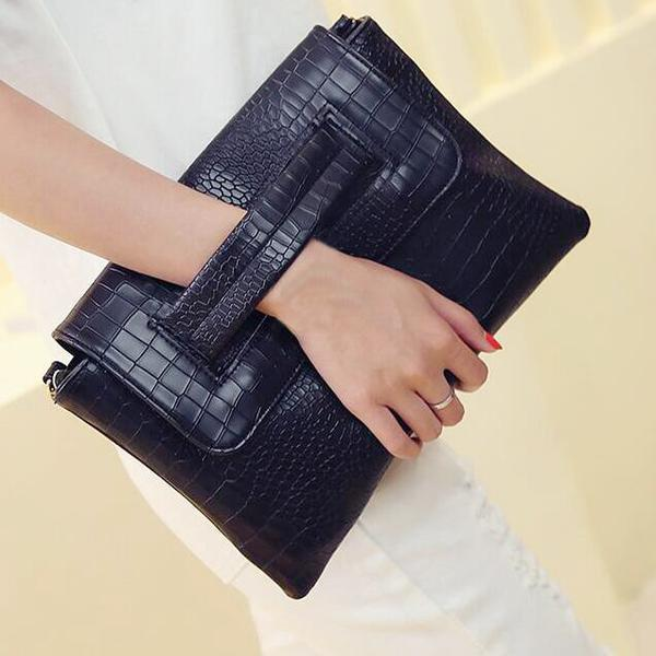 Bag - 2018 Women Leather Alligator Cross Body Bag