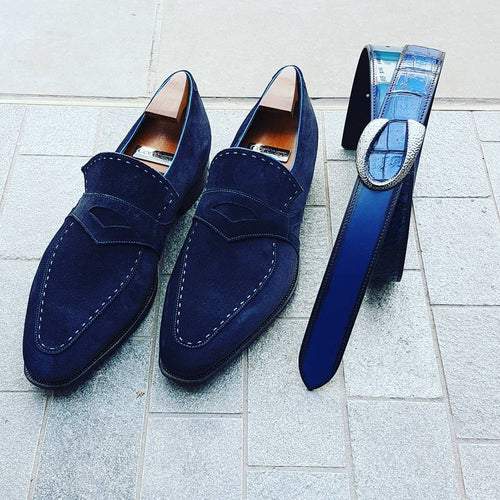 Loafers - Handmade Suede Leather Retro Shoes
