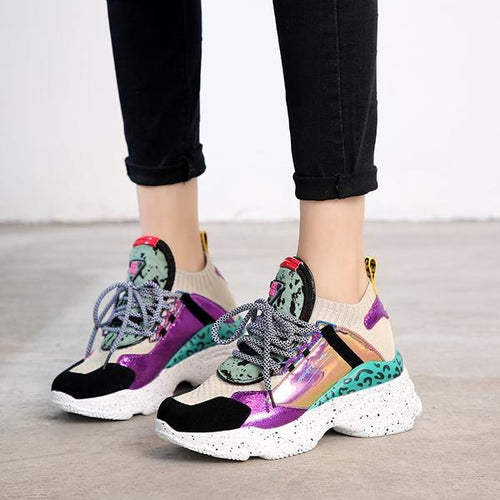 Mixed Colors Casual Women's Shoes