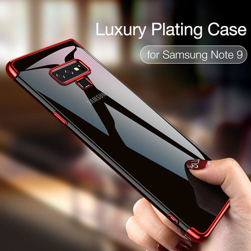 Samsung Case - Luxury Transparent Soft Plating Phone Cases