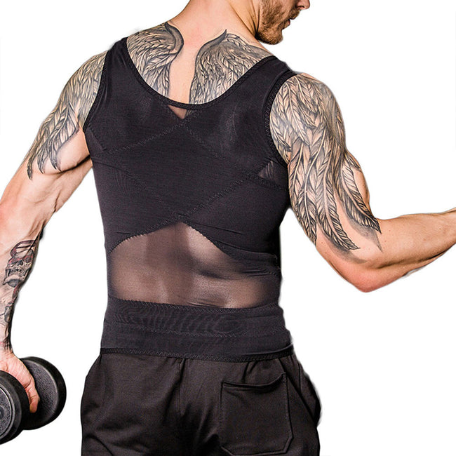Shaping Top - Men Thin Breathable Slimming Fitness Tops