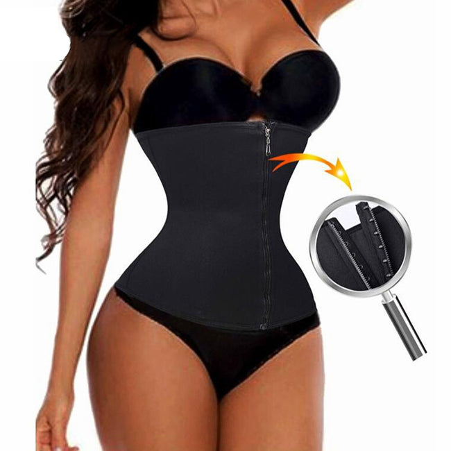 Waist Trainer - Plus Size Hot Corset Slimming Belt Zipper Waist Trainer