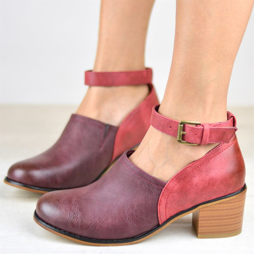 Shoes - Fashion Buckle Casual Ankle Strap Pumps
