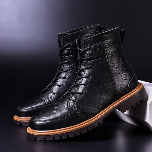 Ankle Boots - Leather Waterproof Comfortable Ankle Boots