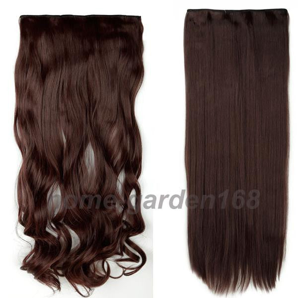 Hair Extension Fashion Looks Natural Curlystraight Long Clip In