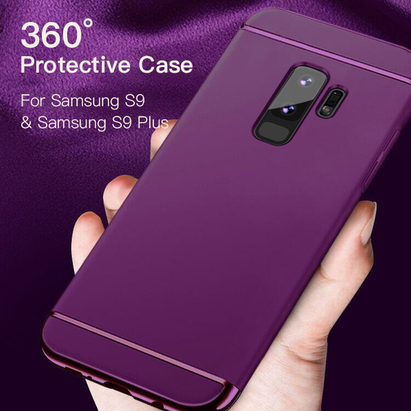 Phone Cases - Luxury Full Protective Cover Plating 3 in 1 Phone Case For Samsung Galaxy S9 S8 S7 Note 8