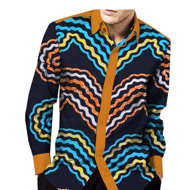 Shirt - Dashiki Full Sleeve Single Breasted Casual Shirt