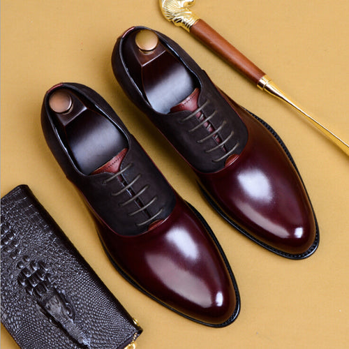 Formal Shoes - 2019 New Leather Point Toe Classic Wide Shoes
