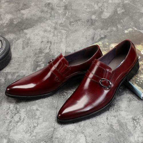 Dress Shoes - Patent PU Leather Buckle Dress Shoes