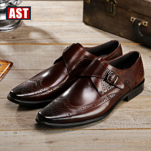 Dress Shoes - Vintage Buckle Brogue Shoes